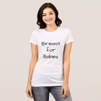 O Tshirt amamentando das mulheres Camiseta