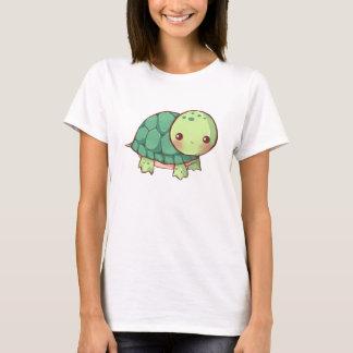 O tshirt das mulheres da tartaruga de Kawaii Camiseta