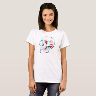 O TShirt das mulheres patrióticas do crânio Camiseta