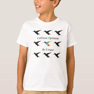 """O TShirt do colibri """"cultiva o optimismo """" Camiseta"""