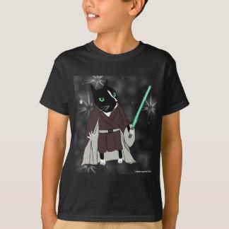 O tshirt do miúdo do jedi do gato