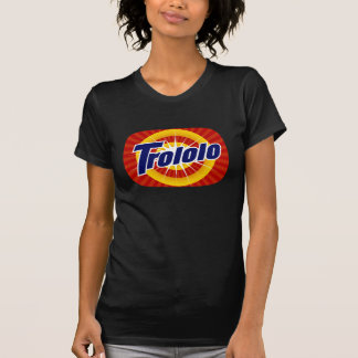 O Tshirt preto das mulheres de Trololo TeeVee