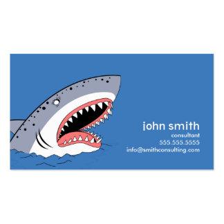 O tubarão denominou o molde do cartão de visita
