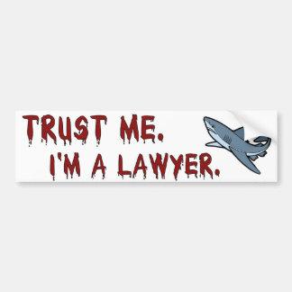 O tubarão do advogado confia-me autocolante no vid adesivo para carro
