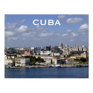 O turismo das viagens vintage de Cuba Havana Cartão Postal