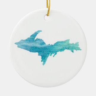 O U.P., Aqua superior do ornamento da península de