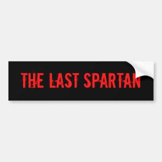O último espartano adesivo para carro