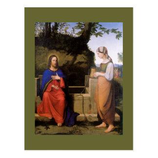O und de Christus morre Samariterin Cartão Postal