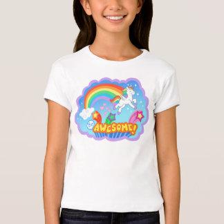 O unicórnio bonito caçoa o t-shirt
