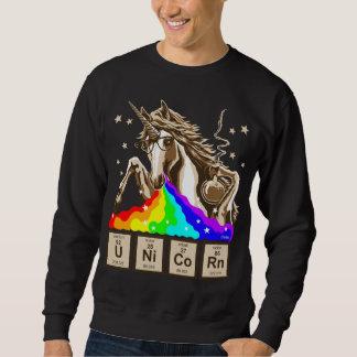 O unicórnio da química pukes o arco-íris moletom