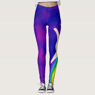 O unicórnio impressionante do arco-íris do partido legging