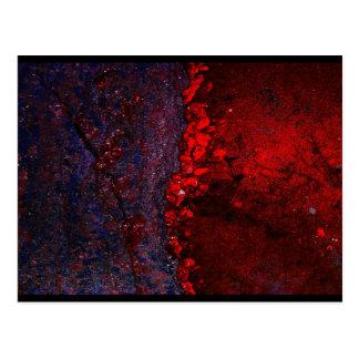 """O """"universal sangra"""" o cartão da arte de JTG Cartoes Postais"""