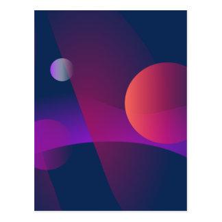 O universo através do vidro cartao postal