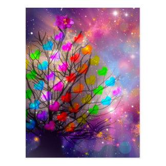 O universo é abundância do amor, dos corações e cartão postal