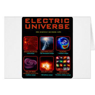 O universo elétrico cartão comemorativo