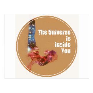 O universo está para dentro você série cartão postal