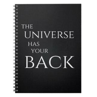 O universo tem seu caderno traseiro
