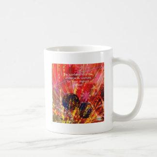 O universo trabalha para você caneca de café