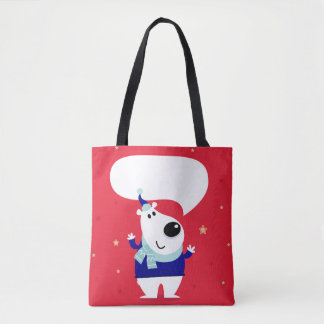 O ursinho feliz bonito caçoa sacolas bolsa tote