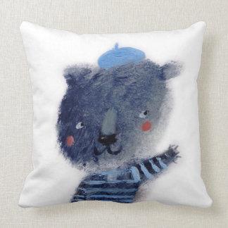 O urso azul almofada