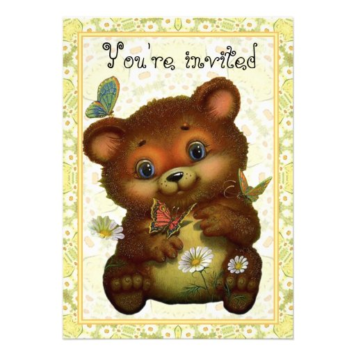 O urso da borboleta convida convites