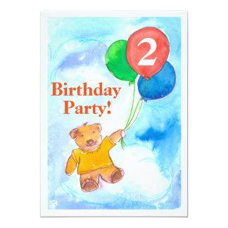 O urso de ursinho Balloons o convite de