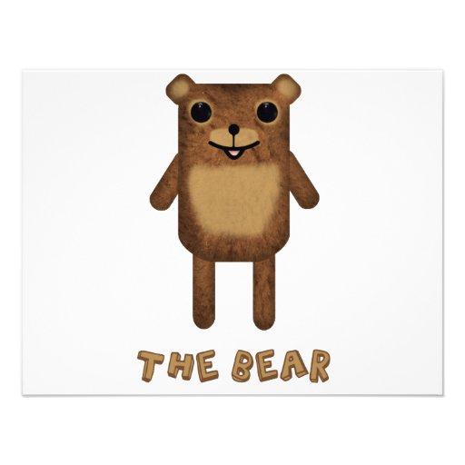 """O urso """"do urso, da nuvem, e do deus """" convites personalizado"""
