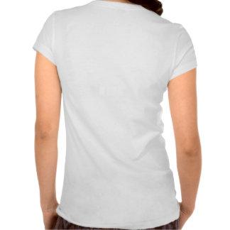 O V da mulher - camisa do tagline do t-shirt de