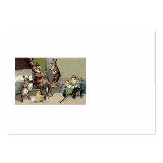 O vagão do ovo do pintinho do coelhinho da Páscoa  Cartão De Visita Grande