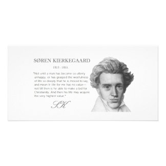 O valor o mais alto das Kierkegaard-Vidas Cartão Com Foto