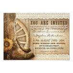 o vaqueiro calça convites de casamento de madeira