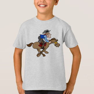 O vaqueiro dos desenhos animados galopa o cavalo camiseta