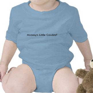O vaqueiro pequeno da mamã macacãozinho para bebês