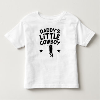 O vaqueiro pequeno do pai camiseta infantil