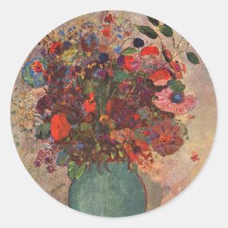 O vaso turco, Odilon Redon, vintage floresce Adesivo