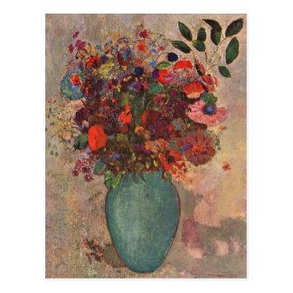 O vaso turco Odilon Redon vintage floresce flora Cartão Postal