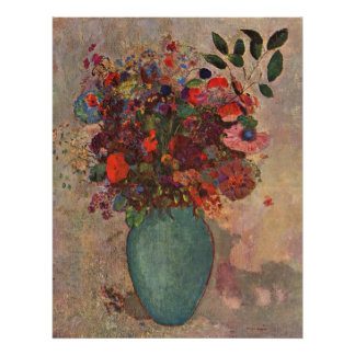 O vaso turco, Odilon Redon, vintage floresce Pôster