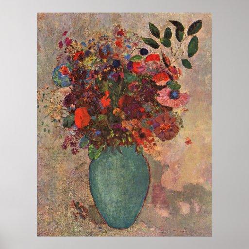 O vaso turco, Odilon Redon, vintage floresce Posteres