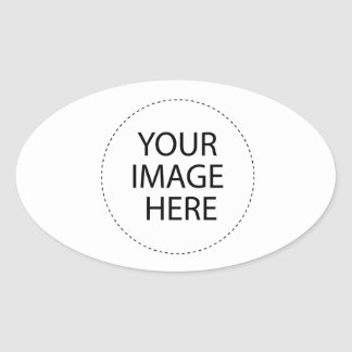 O vazio do modelo   adiciona seu texto da imagem adesivo oval