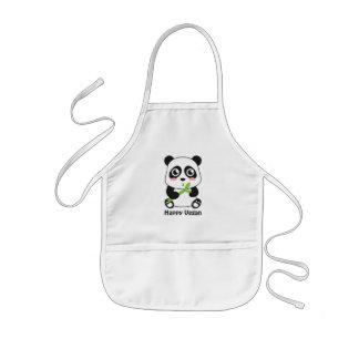 O Vegan bonito da panda do bebê caçoa o avental