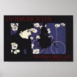 O vencedor do vintage Bicycles o poster da arte do Pôster