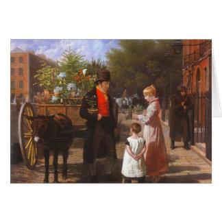 O vendedor da flor cartoes