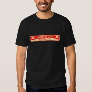 O veneno do vintage seja etiqueta cuidadosa tshirts