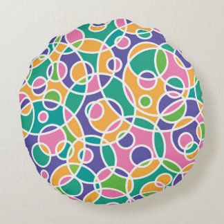 O verão circunda o travesseiro decorativo redondo almofada redonda