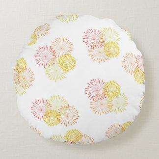 O verão está vindo em volta do travesseiro almofada redonda