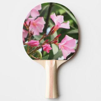 O verão floresce frente e verso raquete de pingpong