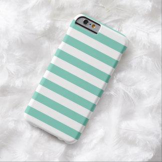 O verão listra a caixa do iPhone 6 de turquesa do Capa Barely There Para iPhone 6