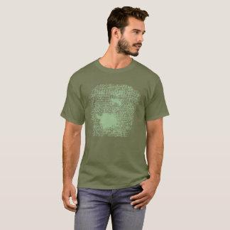 "O verde ""aceita"" a camisa carimbada"