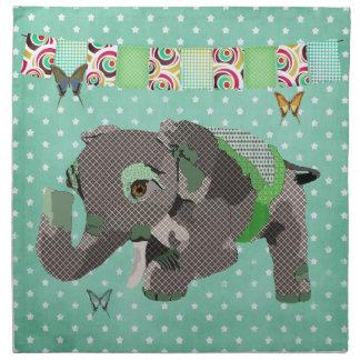 O verde afortunado do elefante de Lil Stars o amer Guardanapo De Pano