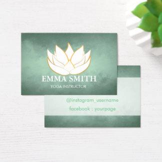 O verde azul de flor de Lotus relaxa o cartão de